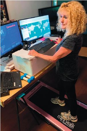She's Walking Across Canada, Virtually, In Her Home Office
